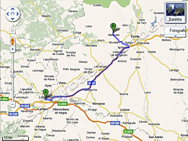Desde Logroño: Coger la carretera LO-234 hacia Mendavia. Al llegar a la muga con Navarra cambia a la NA-134. Un poco antes de llegar a Navarra hay un desvío y entrada para coger la autovía A-12 con dirección Estella–Lizarra. Seguiremos por la autovía A-12. Después de pasar Azqueta coger la salida Nº 44 para tomar la NA-132 B a Vitoria. Después de bajar la variante de Igúzquiza, llegamos al cruce de la ctra. NA- 132 a Estella-Vitoria, situado en el km 6. Girar a la izda. y seguir dirección Vitoria. En el km 7 coger el desvío a la dcha. para tomar la NA- 7310 dirección a Zufía-Ganuza.